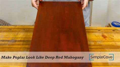 poplar   deep red mahogany finishing