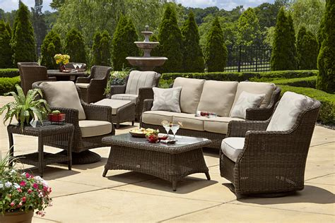 Outdoor Wicker Patio Furniture by Furniture Modern Woodard Patio Wicker Sets With White Set