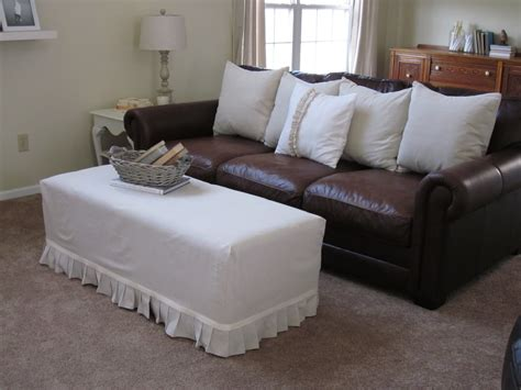 slip cover for leather sofa best ottoman slip covers that you will be interested with homesfeed