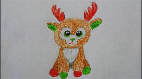 hirsch rentier zeichnen fuer kinder   draw  cute