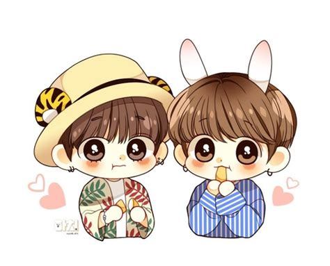 Image In Bts As Cartoons😍 Collection By 부인 전 On We Heart It