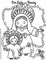 Rosary sketch template