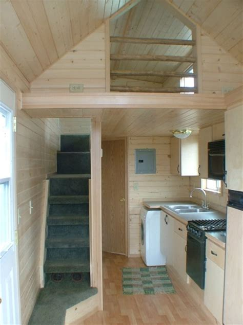 rich  cabin mans extra long tiny house  wheels