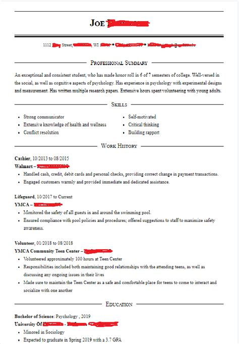 School Resume Gpa by My Resume For Grad School Academicpsychology