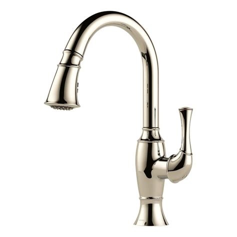 polished nickel kitchen faucet faucet com 63003lf pn in brilliance polished nickel by brizo
