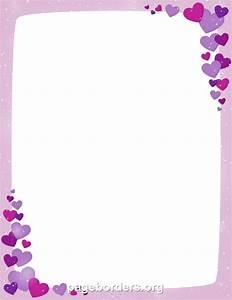 Printable purple Valentine border. Use the border in ...