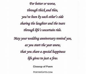 anniversary poem for son and daughter in law - Google ...