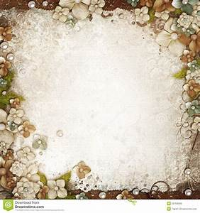 Romantic Vintage Background With Flowers And Pearls In ...