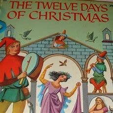 1956 Wonder Books The Twelve Days Of Christmas Washable Cover From Loghomeantiques On Ruby Lane