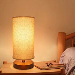Seealle, Bedside, Table, Lamp, Solid, Wood, Nightstand, Lamp