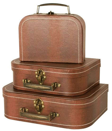3pcs Luggage Travel Set Vintage Style Suitcase Box Bag