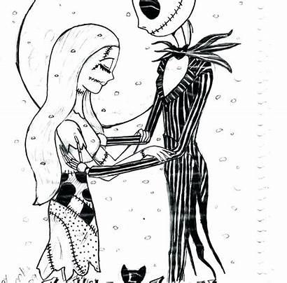 Coloring Jack Pages King Pumpkin Sally Printable