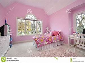 Quarto Da Menina Cor-de-rosa Imagem de Stock - Imagem