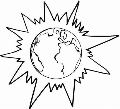Earth Coloring Printable