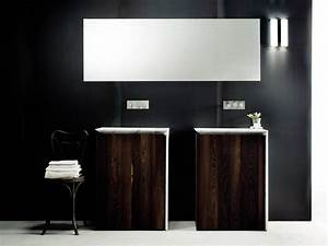 Meuble Vasque Sur Pied : meuble de salle de bain en bois avec vasque int gr e ~ Teatrodelosmanantiales.com Idées de Décoration