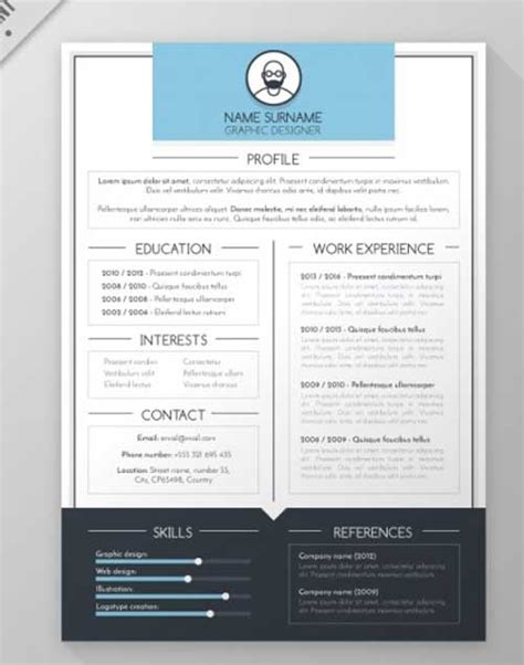resume template designs you can and edit for free