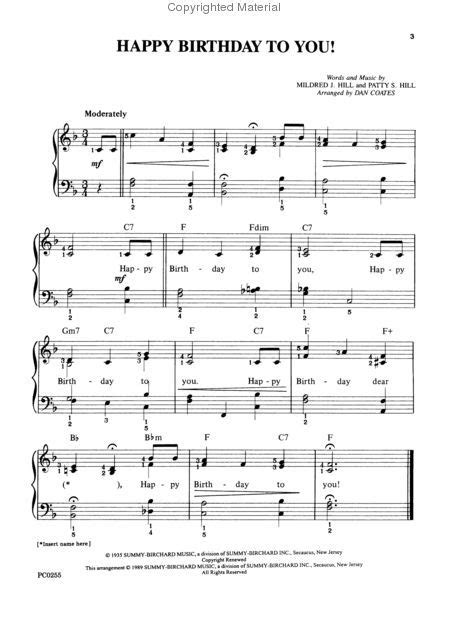 The first one is for children who have only just started to play, with just the simple melody line centered on middle c so 3. Happy Birthday to You | Happy birthday piano, Sheet music, Piano sheet music free