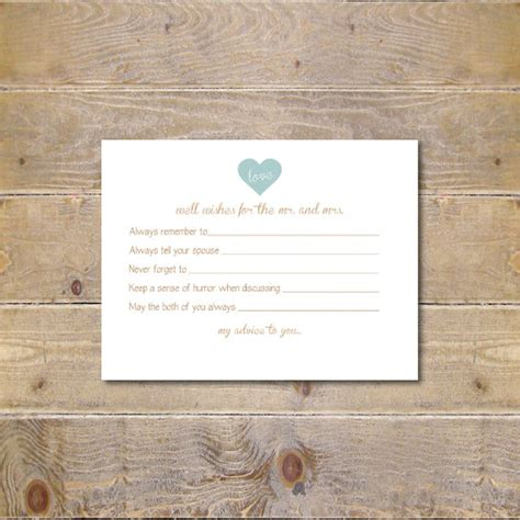 Bridal Shower Advice Cards Template by Printable Advice Cards Bridal Shower Advice Cards Bridal