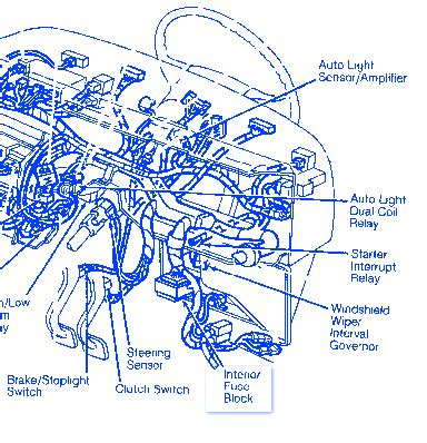 Ford Thunderbird Under Hood Electrical Circuit Wiring