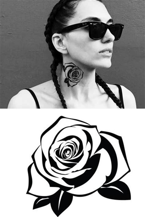 Rose Temporary Tattoo. Pack of 2 - Frenzy Flare