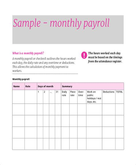 7+ Payroll Sheet Templates  Free Sample, Example Format. Student Recommendation Letter From Teacher Template. Sample Of Invitation Letter Template For Visa. Free Loan Template. Resume Objective For Nursing Assistant Template. Network Engineer Cover Letter Examples Template. Blank Chore Charts To Print. Packing List Template Pdf. Word Of The Day Calendar Template