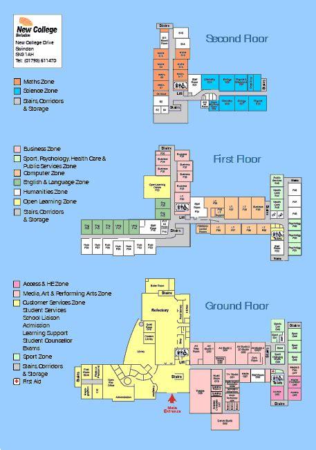 site plans college campus maps  bulding layout plan design