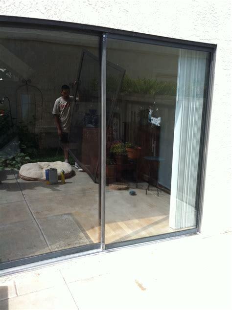 glass repair fogged sliding door repaired before