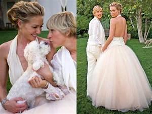 best celebrity wedding dresses With portia de rossi wedding dress