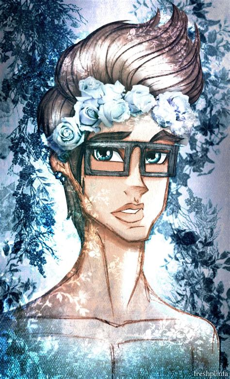 Hipster Dex With Flower Crown By Freshplinfa Ivy