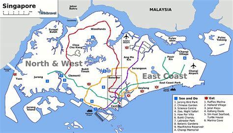 Singapore Botanic Gardens Location by Stadtplan Von Singapur Stadt Detaillierte Gedruckte