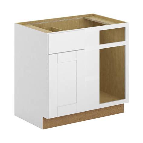 unfinished blind corner base cabinet 36x34 5x24 in base cabinet in unfinished oak b36ohd the