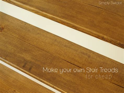 Cheap Kitchen Makeover Ideas - how to make wood stairs treads for cheap simply swider