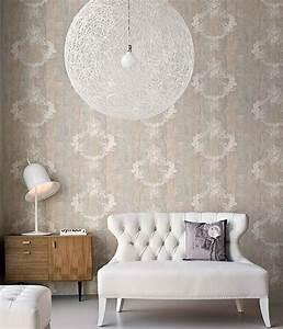 Vintage Tapete Grau : tapete vintage braunbeige grau weiss tapeten der 70er ~ Sanjose-hotels-ca.com Haus und Dekorationen