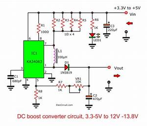 Dc Boost Converter Circuit 3 3-5v To 12v-13 8v