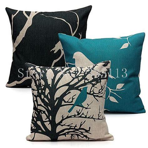 buy vintage bird animal tree cotton linen throw pillow case  cushion rela