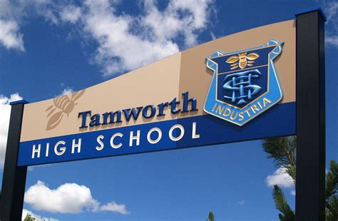 Tamworth High School Welcome Sign  Danthonia Designs Usa. Coffee Cup Murals. Stars And Stripes Decals. Full Room Wall Murals. Class Coaching Indian Banners. Analysis Signs Of Stroke. Labels For Kids. Medievil Banners. Seed Murals