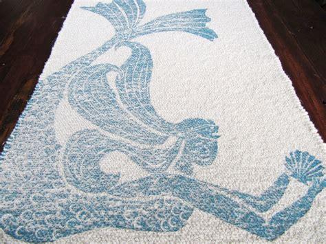Themed Bathroom Rugs by Bath Mat Cotton Rug Mermaid Color Navy Blue On