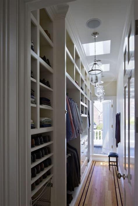 Narrow Walk In Closet narrow walk in closet design ideas