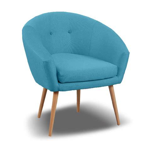 fauteuil dossier arrondi en tissu bleu ciel aventy
