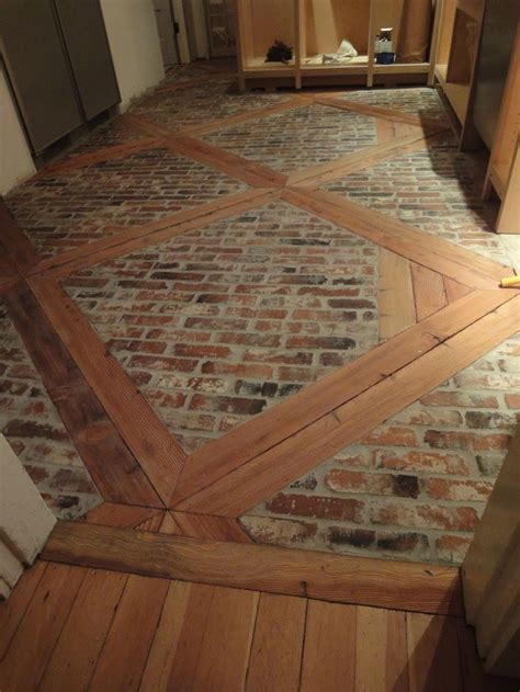 Flur Diy by Diy How To Install This Brick Floor Using 2 X 4 S And