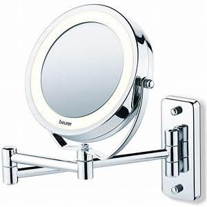 beurer miroir grossissant lumineux x5 avec fixation With miroir mural lumineux