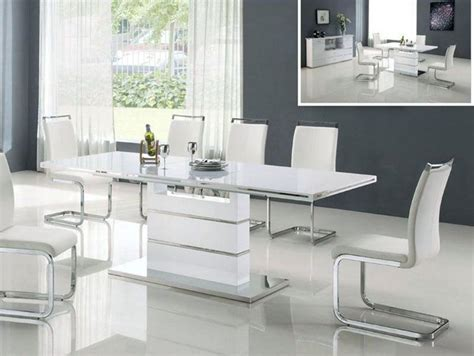 modern white dining table color  ideas