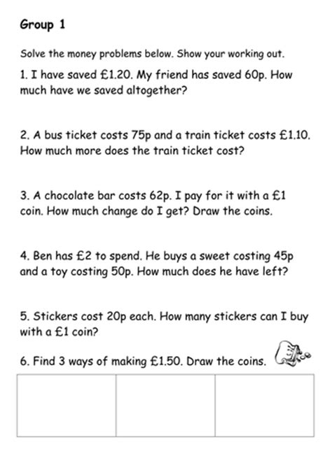 money problem solving 2 by jomax766 teaching resources