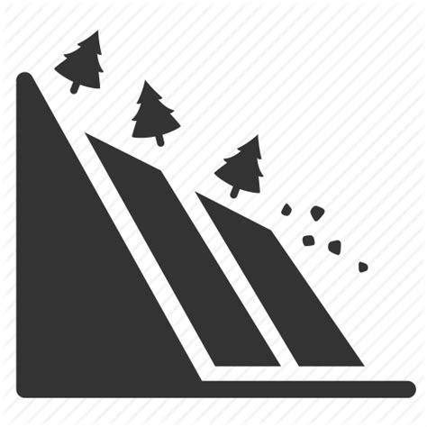 icon land danger disaster earthquake geology land landslide