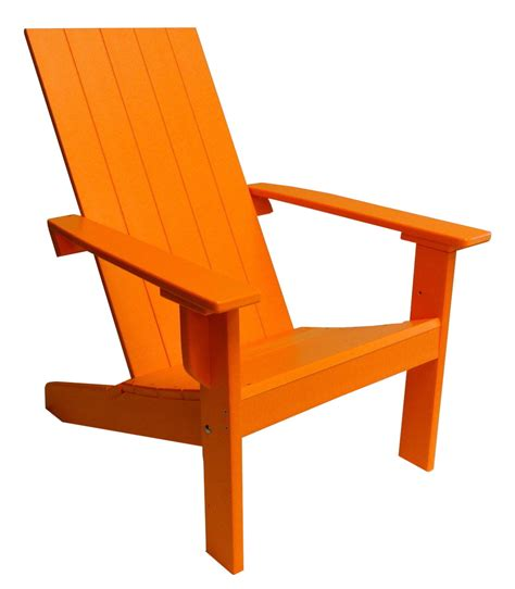 modern adirondack chair with square back made from poly