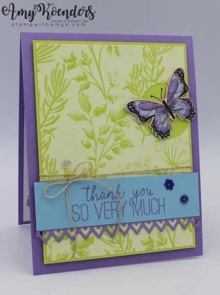 Stampin Up Butterfly Gala with Botanical Butterfly DSP