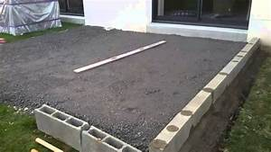 terrasse composite sur plots youtube With terrasse en bois sur plot