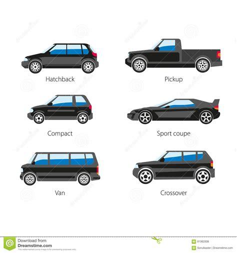 Diversos Tipos De Vehículos Ilustración Del Vector
