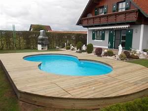 Pool Aus Holz : terrassenboden aus kesseldruckimpr gniertem holz glatt gehobelt als einfassung f r einen pool ~ Frokenaadalensverden.com Haus und Dekorationen