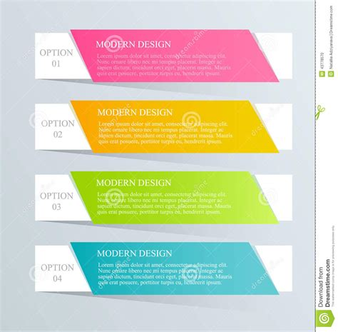 design template modern inforgraphic template can be used for banners website templates and designs